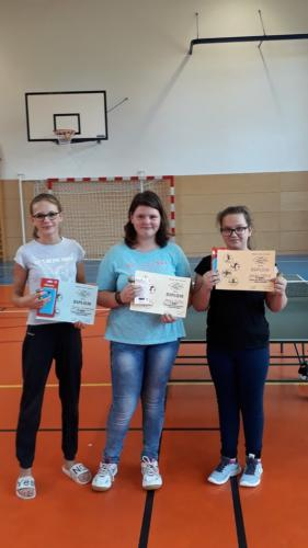 vítězky kategorie starších žákyň